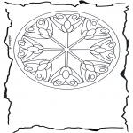 Mandala Kleurplaten - Bloemenmandala 3