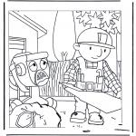 Kinderkleurplaten - Bob de Bouwer 1