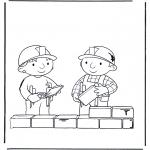 Kinderkleurplaten - Bob de bouwer 2