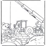 Kinderkleurplaten - Bob de bouwer 3