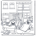 Kinderkleurplaten - Bob de bouwer 4
