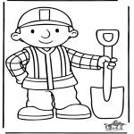 Kinderkleurplaten - Bob de bouwer 5