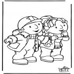 Kinderkleurplaten - Bob de Bouwer 8