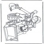 Kinderkleurplaten - Bob met een buldozer