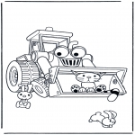 Kinderkleurplaten - Bob's buldozer