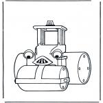 Kinderkleurplaten - Bob's walswagen