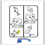 Knutselen - Boekenlegger Baby
