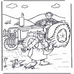 Allerlei Kleurplaten - Boer en boerin