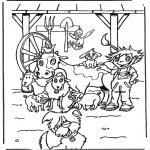 Kinderkleurplaten - Boerderijdiertjes