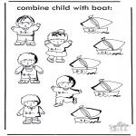 Knutselen - Boot en kind