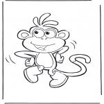 Kinderkleurplaten - Boots de aap