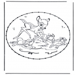 Knutselen Borduurkaarten - Borduur stripfiguur 10