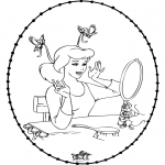 Knutselen Borduurkaarten - Borduurkaart Assepoester