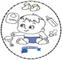 Borduurkaart baby 2