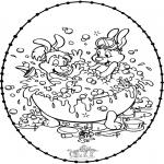 Knutselen Borduurkaarten - Borduurkaart Bobo