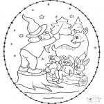 Knutselen Borduurkaarten - Borduurkaart diertjes