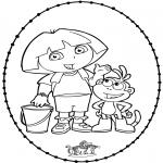 Knutselen Borduurkaarten - Borduurkaart Dora