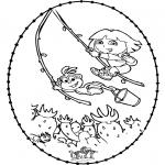 Knutselen Borduurkaarten - Borduurkaart - Dora