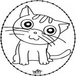 Knutselen Borduurkaarten - Borduurkaart kat