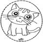 Borduurkaart kat