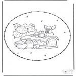 Knutselen Borduurkaarten - Borduurkaart kerstsnoep