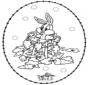 Borduurkaart konijn