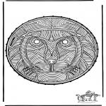 Knutselen Borduurkaarten - Borduurkaart Leeuw