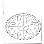 Knutselen Borduurkaarten - Borduurkaart Mandala 1