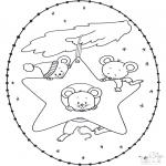 Knutselen Borduurkaarten - Borduurkaart muisjes