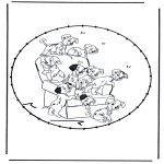 Knutselen Borduurkaarten - Borduurkaart Stripfiguur 7