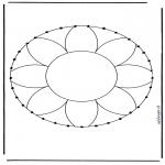 Knutselen Borduurkaarten - Borduurmandala 1