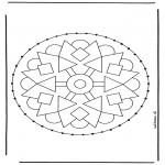 Knutselen Borduurkaarten - Borduurmandala 2