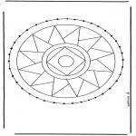 Knutselen Borduurkaarten - Borduurmandala 3