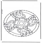 Knutselen Borduurkaarten - Borduurmandala 6