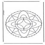 Knutselen Borduurkaarten - Borduurmandala 7