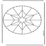 Knutselen Borduurkaarten - Borduurmandala 8