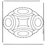 Knutselen Borduurkaarten - Borduurmandala 9