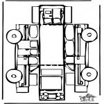 Knutselen - Bouwplaat auto