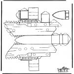 Knutselen - Bouwplaat Boot