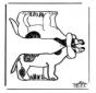 Bouwplaat hond