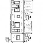 Knutselen - Bouwplaat huisje 1