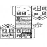 Knutselen - Bouwplaat huisje 3