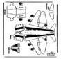 Bouwplaat vliegtuig