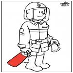 Allerlei Kleurplaten - Brandweerman