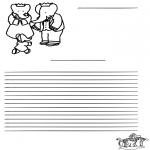 Knutselen - Briefpapier Babar