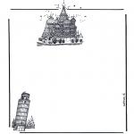 Knutselen - Briefpapier gebouwen