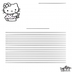 Knutselen - Briefpapier Hello Kitty