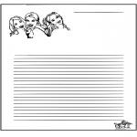 Knutselen - Briefpapier K3