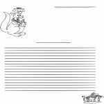 Knutselen - Briefpapier kangoeroe
