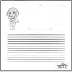 Knutselen - Briefpapier meisje